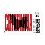 Chihuahua silhouette, long coat stamp