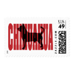 Chihuahua silhouette postage stamp
