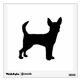 Chihuahua silo black.png wall sticker