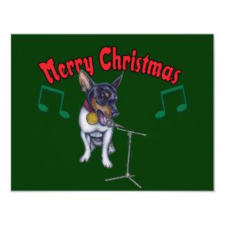 Chihuahua Sings Merry Christmas Card