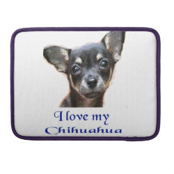 Macbook Pro 13' Flap Sleeve with Chihuahua Phone Cases design