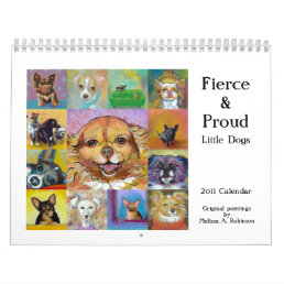 Chihuahua small dog 2011 calendar art paintings