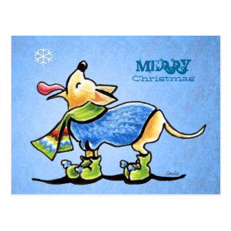 Chihuahua Snowflake Christmas Custom Postcard