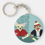 Chihuahua & Sock Monkey Key Chain