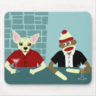 Chihuahua & Sock Monkey Mouse Pad