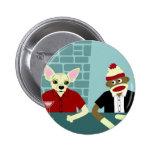Chihuahua & Sock Monkey Pins