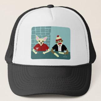 Chihuahua & Sock Monkey Trucker Hat