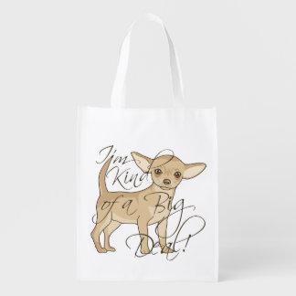 Chihuahua soy un poco un diseño gráfico de la gran bolsa de la compra