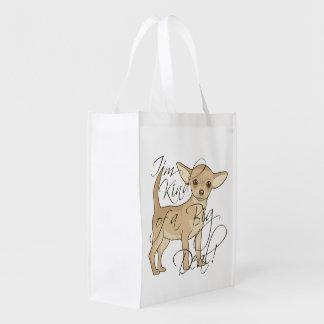 Chihuahua soy un poco un diseño gráfico de la gran bolsa reutilizable