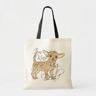 Chihuahua soy un poco un diseño gráfico de la gran bolsa tela barata