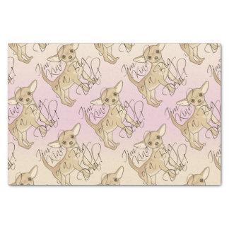 Chihuahua soy un poco un diseño gráfico de la gran papel de seda pequeño