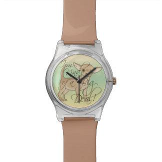 Chihuahua soy un poco un diseño gráfico de la gran relojes de pulsera
