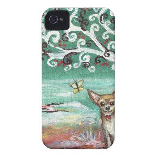 Chihuahua spiritual tree love heart iPhone 4 cases