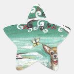 Chihuahua spiritual tree love heart star stickers