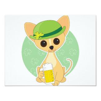 Chihuahua St. Pat's 4.25x5.5 Paper Invitation Card