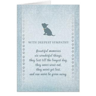 Chihuahua Sympathy Beautiful Memories Card