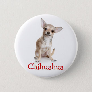 Chihuahua Tan and White Puppy Dog Pinback Button