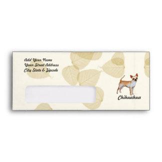 Chihuahua Tan Leaves Motiff Envelope