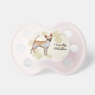 Chihuahua Tan Leaves Motiff Baby Pacifiers