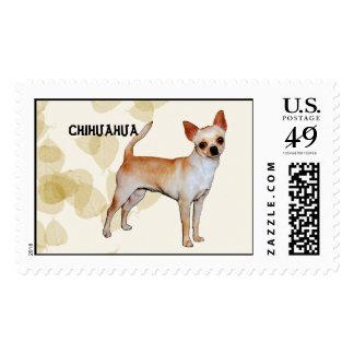 Chihuahua Tan Leaves Motiff Postage