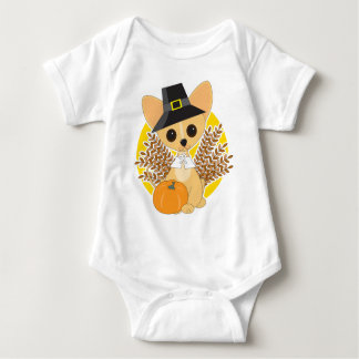 Chihuahua Thanksgiving Baby Bodysuit