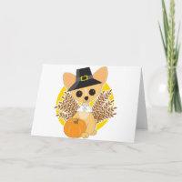 Chihuahua Thanksgiving Greeting Card