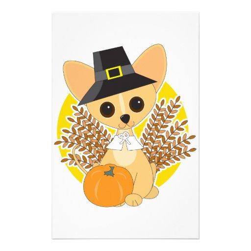Chihuahua Thanksgiving Custom Stationery
