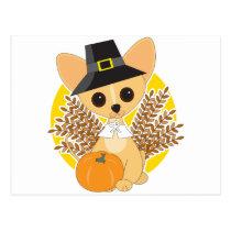 Chihuahua Thanksgiving Postcard