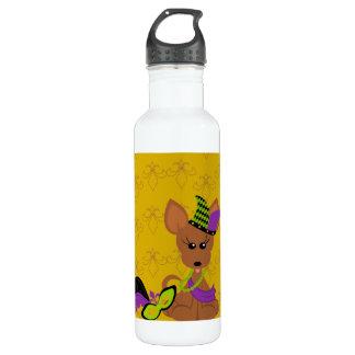 Chihuahua Tina MardiGras Liberty Bottle