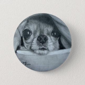 Chihuahua under Blanket original artwork Button