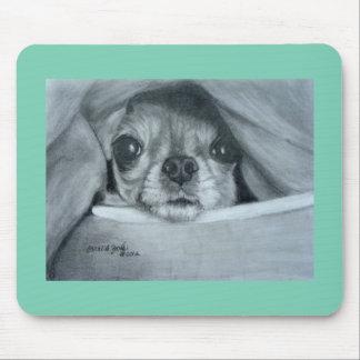 Chihuahua under Blanket original artwork Mouse Pad