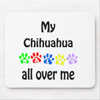 Chihuahua Walks Design Mouse Pad