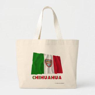 Chihuahua Waving Unofficial Flag Canvas Bags