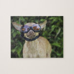 Chihuahua wearing goggles jigsaw puzzles