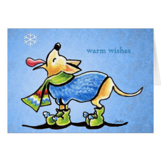Chihuahua Winter Snowflakes Christmas Custom Greeting Card