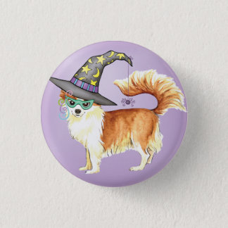 Chihuahua Witch Button