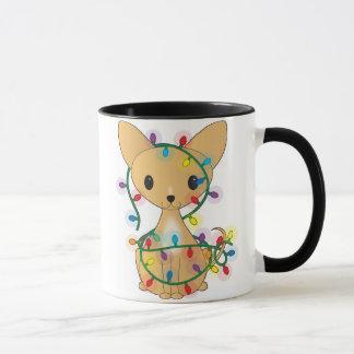 Chihuahua with Christmas Lights Mug
