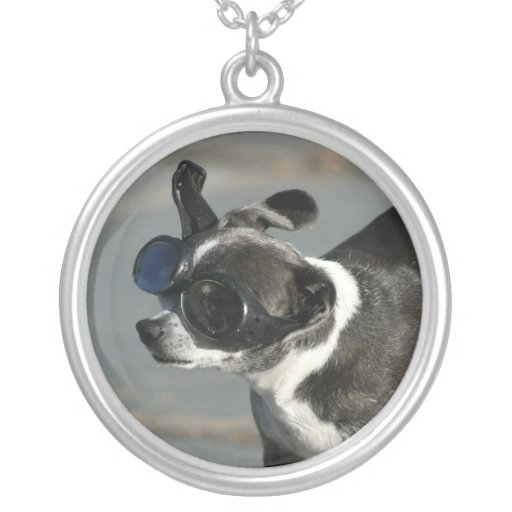 Chihuahua with Goggles Necklace