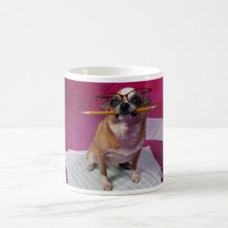 Chihuahua With Pencil Classic White Coffee Mug