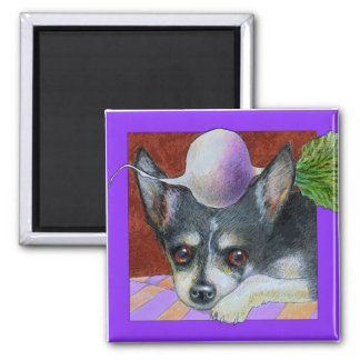 Chihuahua with Turnip Magnet