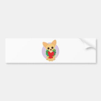 Chihuahua Wreath Bumper Sticker