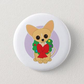 Chihuahua Wreath Button