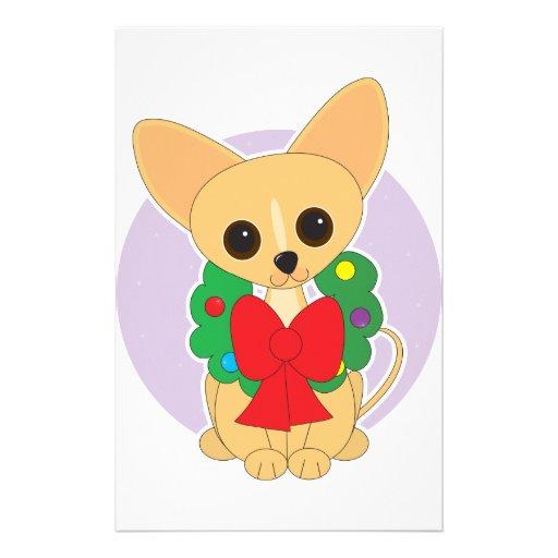 Chihuahua Wreath Custom Stationery