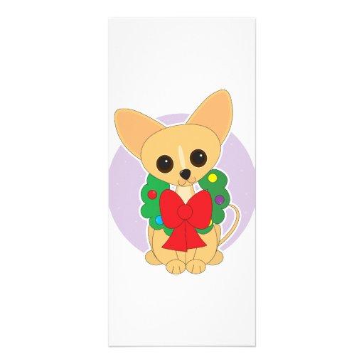 Chihuahua Wreath Full Color Rack Card