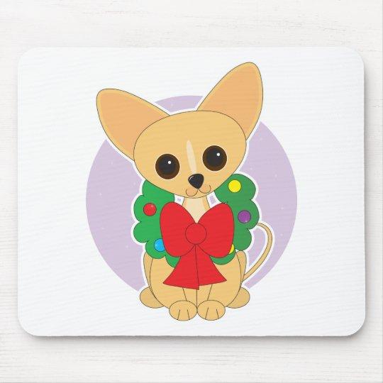Chihuahua Wreath Mouse Pad