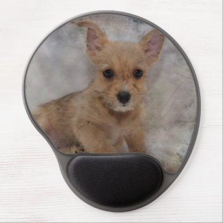 Chihuahua/Yorkie Puppy Gel Mouse Pad