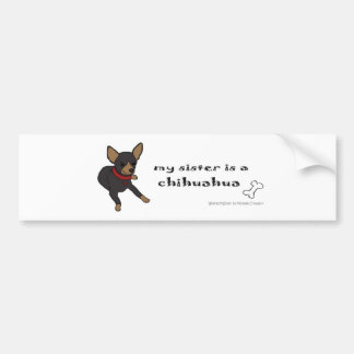 ChihuahuaBlackFullBodySis Bumper Sticker
