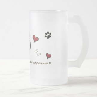 ChihuahuaBlk Frosted Glass Beer Mug
