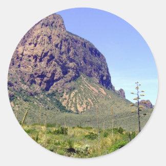 Chihuahuan Desert scene 01 Round Sticker