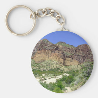Chihuahuan Desert scene 08 arroya Key Chains